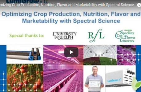 Optimizing Crop Production, Nutrition, Flavor and Marketability with Spectral Science