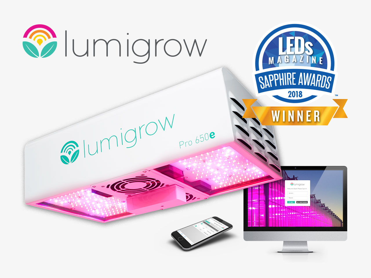 LumiGrow Honored for Changing the Agricultural Model Using Light at LEDs Magazine Sapphire Awards Gala