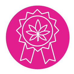 Icon of a cannabis award