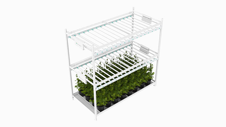 image of a pristine vertical grow system